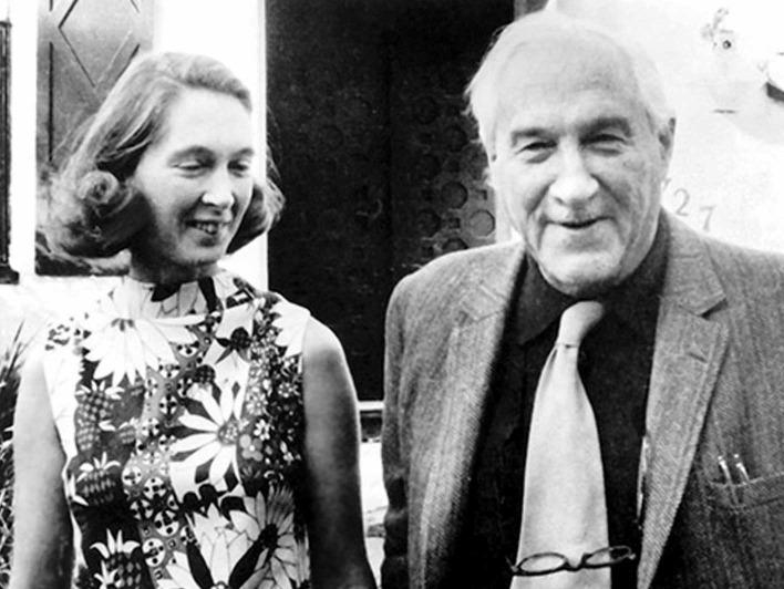Jane Goodall gemeinsam mit Louis Leakey