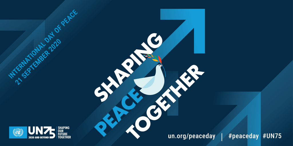 Banner International Day of Peace 21 September 2020 - un.org/peaceday