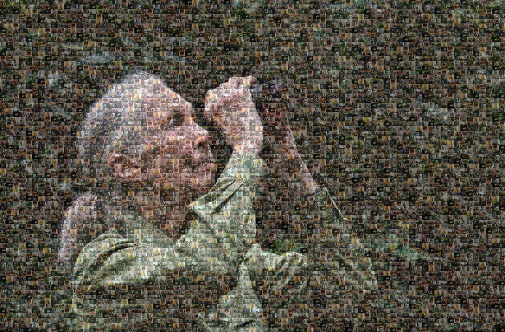 Mosaik Jane Goodall zum Patenabend Schimpansenschutz am 26.02.2021