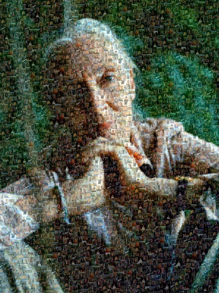 Das große Jane Goodall Mosaik anlässlich ihres 87. Geburtstags