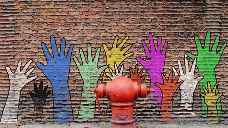 Graffiti Hände Wand